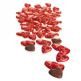 Schoko-Herzen 100 Stück