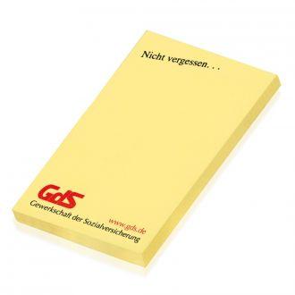 Haftnotizblock gelb 50x75mm inkl. Druck