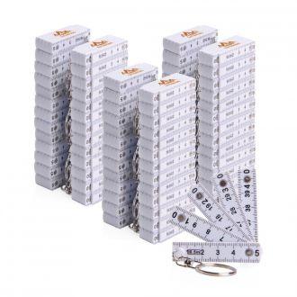 Werbetipp: 90 Zollstock- Schlüsselanhänger 0,5m inkl. einfarbigem Werbedruck