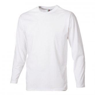 Longsleeve T-Shirt -Fruit of the Loom- Weiß