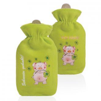 Wärmflasche Schwein 2er Set Lucky m. Spruch