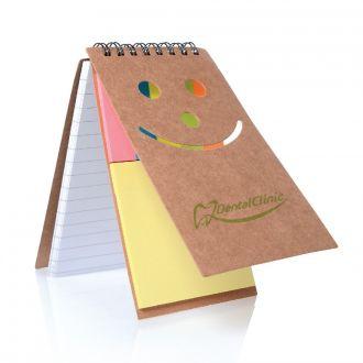 Notizbuch Smile aus Naturkarton