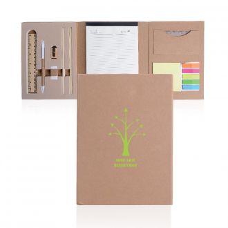 Schreibmappe Office-Set aus Naturkarton, 10 Teile