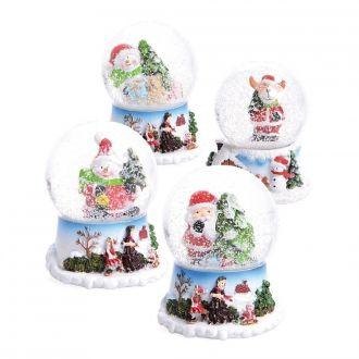 Mini Schneekugeln 4er Set