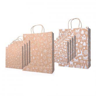 Weihnachts-Papiertaschen 10er Set