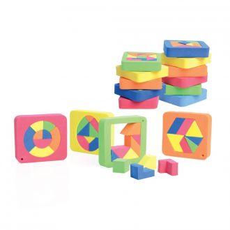 Puzzle aus Moosgummi 15er Set sort
