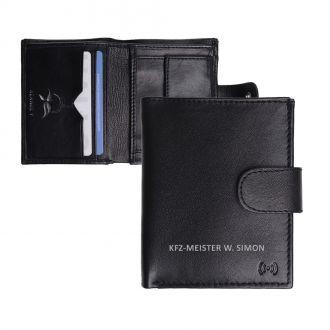 Lederbörse schwarz mit RFID