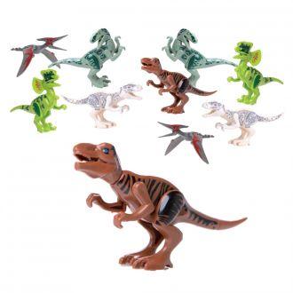 Dinosaurier als Bausatz 10er Set farblich sortiert