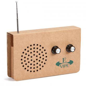 Cardboard Radio aus Recycling-Karton mit MP3-Anschluss
