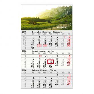 3 Monats-Kalender 2020, Recycling Budget 3