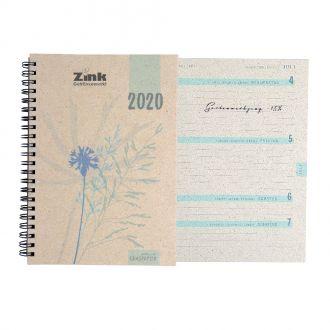 Graspapier Buchkalender
