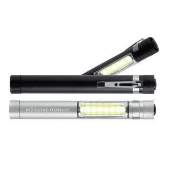 COB Taschenlampe mit Magnet aus Aluminium, 1,5 x 12 cm