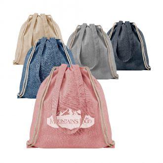 Rucksack aus recycelter Baumwolle, 37 x 40 cm