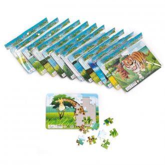 Tier-Puzzles 16er Set