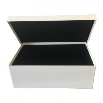 Klappdeckel-Karton gross weiss 37 x 23 x 12,5 cm