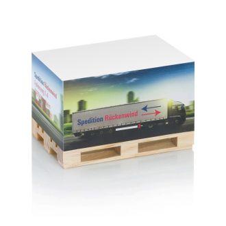 Paletten-Block Ausführung mit Werbedruck