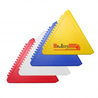 Eiskratzer Dreieck in 4 Farben, 12 x 11,6 cm