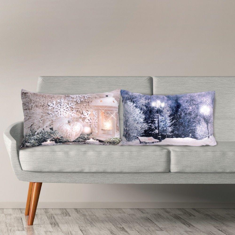 LED Kissen Motiv Landschaft länglich