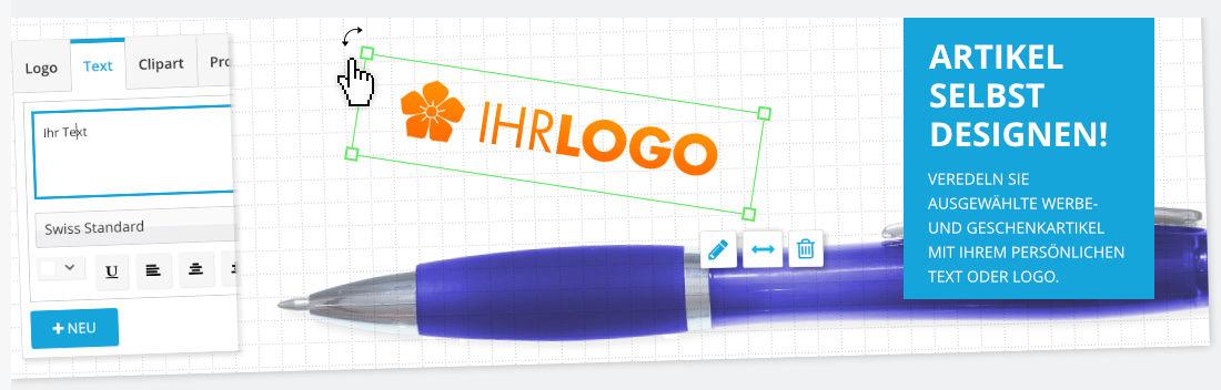 Werbemittel mit dem Artikeldesigner gestalten